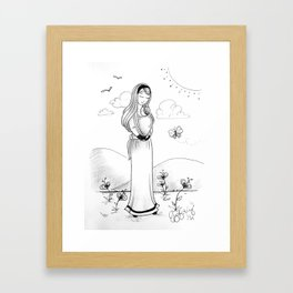 Carried Framed Art Print