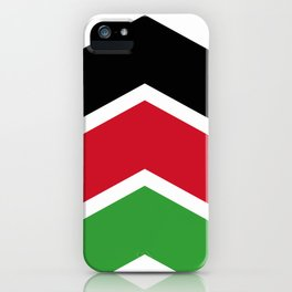 Chevron Malawi Flag Colors iPhone Case