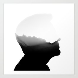 Mountains in the head Art Print