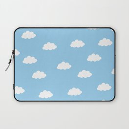 White clouds in blue background Laptop Sleeve