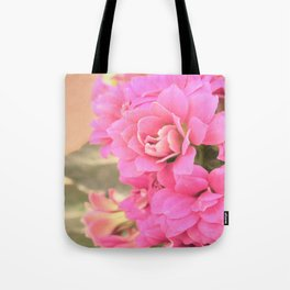 peach colored flower Tote Bag
