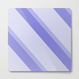 side stripes blue modern home Metal Print