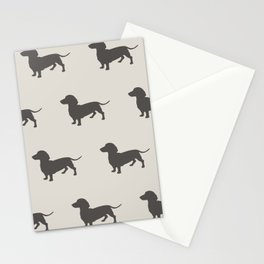 Dachshund Pattern Stationery Cards
