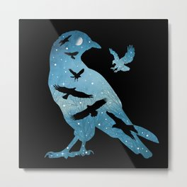 The Night Of The Crows Metal Print