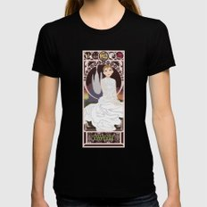 Childlike Empress Nouveau - Neverending Story LARGE Womens Fitted Tee Black