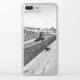 Flying birds on a walk path in Ireland Clear iPhone Case
