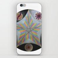 pentagram iPhone & iPod Skins featuring Galactic Pentagram (ANALOG zine) by johngerGEOs