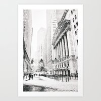 new york city Art Prints featuring New York City Christmas by Vivienne Gucwa