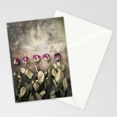 Five dried roses Stationery Cards