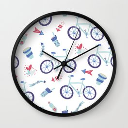 Love riding Pattern Wall Clock
