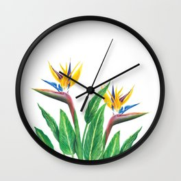 Birds of paradise flowers Wall Clock