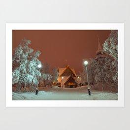 Kiruna Church In the Winter Snow Art Print