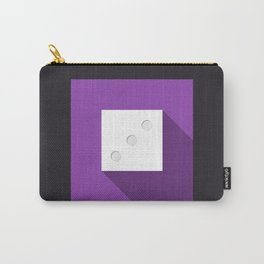 """Dice """"three"""" with long shadow in new modern flat design Carry-All Pouch"""