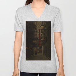 Old Goodman Theatre Sign from Alley Chicago Illinois Unisex V-Neck
