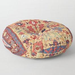 Sauj Bulag Azerbaijan Northwest Persian Rug Print Floor Pillow