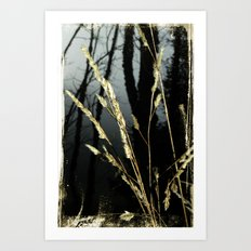 WeedsInFog Art Print