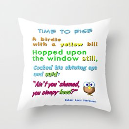 Nursery Classic Rhyme Time to Rise Throw Pillow