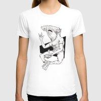 shark T-shirts featuring Shark by Hopler Art