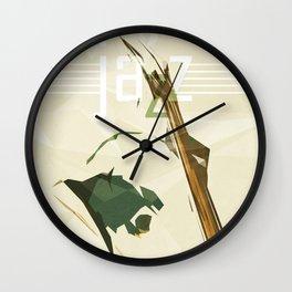 Contrabassist. Jazz Club Poster Wall Clock