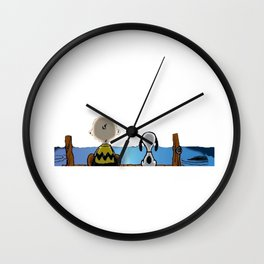Charlie And Snoopy Wall Clock