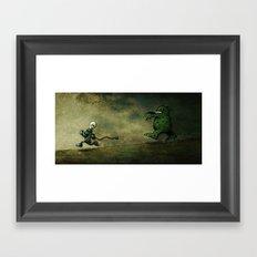 Run for Bulb Framed Art Print