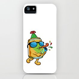 Beer Sunglasses for Party with Whistle Confetti iPhone Case