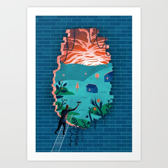 Ins and outs Art Print