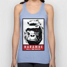 Harambe Will Be Back Unisex Tank Top