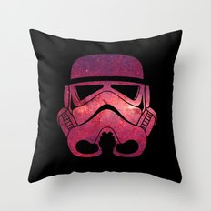 Stormtrooper on Red Stars Throw Pillow