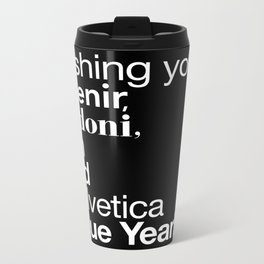 Happy Helvetica Neue Year 2014 Metal Travel Mug