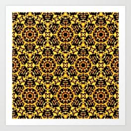 Sunny Gold Pattern Art Print
