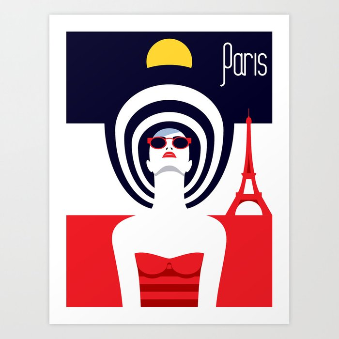 Stylish Journey - Paris Art Print
