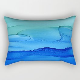 Alcohol Ink Seascape Rectangular Pillow