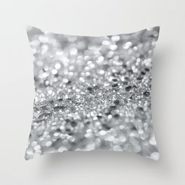 Silver Gray Lady Glitter #1 #shiny #decor #art #society6 Throw Pillow