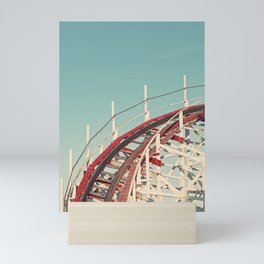 Coast - Vintage Santa Cruz Roller Coaster Mini Art Print