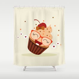 Cupcake caramel Shower Curtain