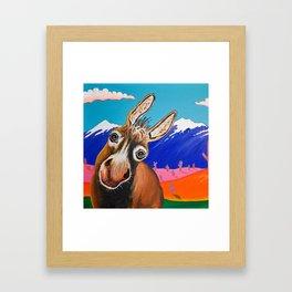 Happy Donkey Framed Art Print
