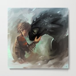 hiccup & toothless Metal Print