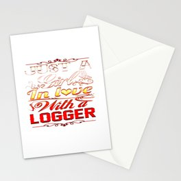 In love with Logger Stationery Cards
