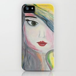 Based on my Original Painting by Jodilynpaintings. Figurative Abstract Pop Art. iPhone Case