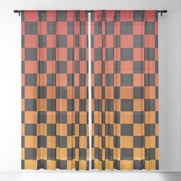 Chessboard Gradient V Sheer Curtain