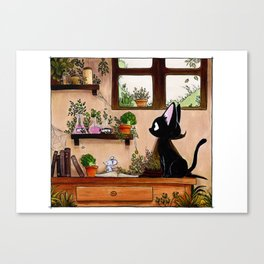 Suie and mouse Canvas Print