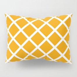 Criss-Cross (White & Orange Pattern) Pillow Sham
