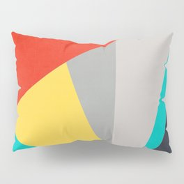 Aggressive Color Block Pillow Sham