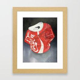 Coca-Cola Can Framed Art Print