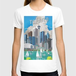 Toronto Skyline wide T-shirt