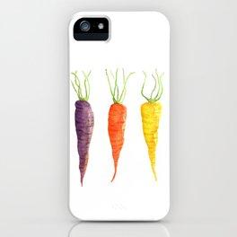 Three Carrots iPhone Case