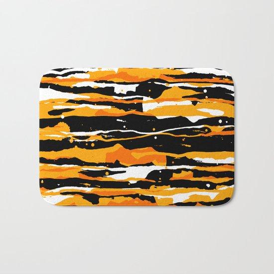 black and orange 02 Bath Mat