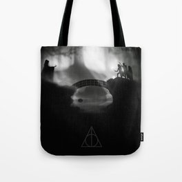 """But Death was cunning"" Deathly Hallows Tote Bag"