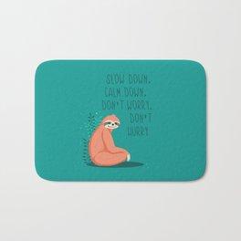Slow down, sloth Bath Mat